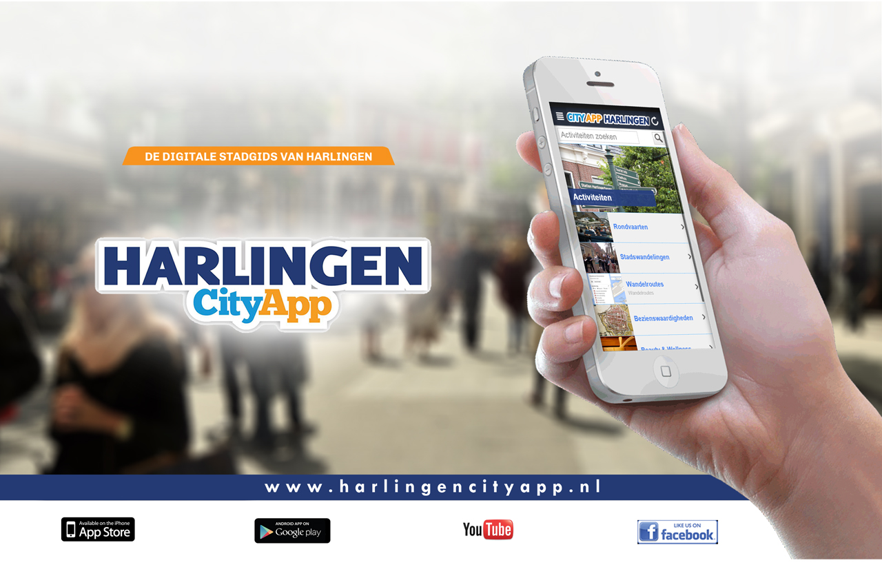 Header plaaten city app poster